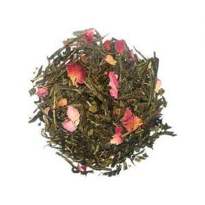 thé vert rose framboise vanille citron